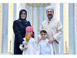 """Diyanet İşleri Başkanı Erbaş: """"Çocuklarımız Allah sevgisiyle yetişsin istiyoruz"""""""