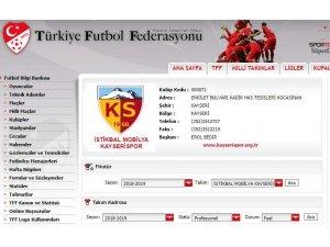 TFF, Kayserispor'un ismini güncelledi