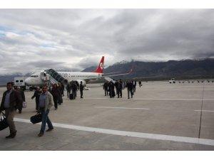 Erzincan Havalimanı'nda 494 bin 226 yolcuya hizmet verildi