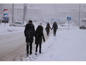 Bolu kent merkezi karla kaplandı