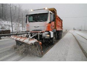 Bolu'da, karla mücadelede 4 bin 215 ton tuz kullanıldı