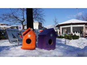 Kuş evleri Akyazı'ya renk kattı