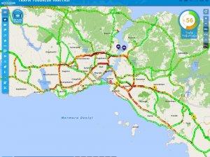 """İstanbul'da """"karne"""" trafiği havadan görüntülendi"""