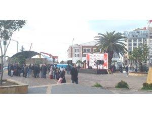 Osmanlı Partisi Genel Başkanı İbrahim Ünye, Giresun'da boş meydana konuştu