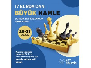 17 Burda AVM'den satranç seti hediye