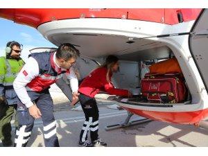 Sivas'ın ambulans helikopteri tanıtıldı