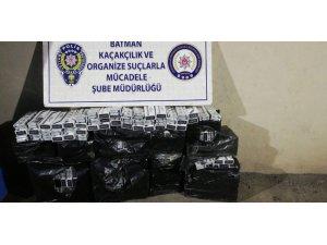Batman'da 3 bin 370 paket kaçak sigara ele geçirildi