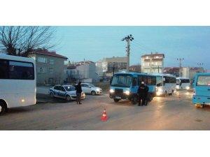 Edirne'de servis araçlarına denetim yapıldı