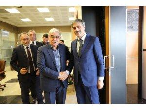 Başkan Alemdar, SAMOB Başkanı Durak'ı ağırladı