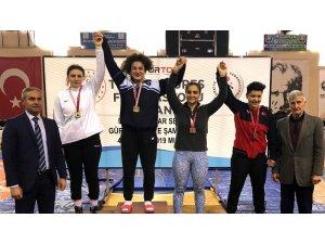 Çorlulu güreşçi Türkiye üçüncüsü