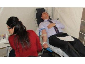 Tarım ve Orman Müdürlüğü personeli kan verdi