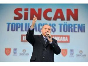 """Cumhurbaşkanı Erdoğan: """"Milletimizin sırtına yapışanlara meydanı bırakmayacağız"""""""