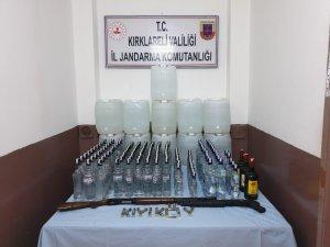 Kırklareli'de 435 litre kaçak içki ele geçirildi