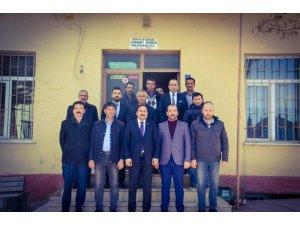 Kaymakam Demirkol'dan Ziraat Odası Başkanı Erden'e hayırlı olsun ziyareti