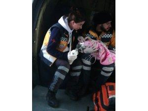 Mehmetçik, 6 aylık bebeği helikopterle hastaneye ulaştırdı