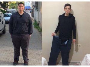 18 yaşında 60 kilo verdi