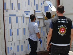 500 bin paket kaçak sigara ele geçirildi