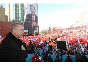 """Cumhurbaşkanı Erdoğan: """"CHP'nin başındaki zat gibi yalanla peynir gemisi yürütmeye çalışmıyoruz"""""""