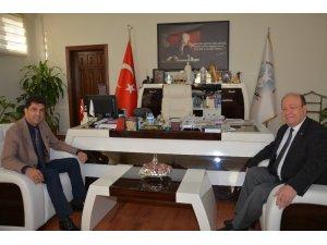 Rektör Aldemir'den Başkan Özakcan'a idae-i ziyaret