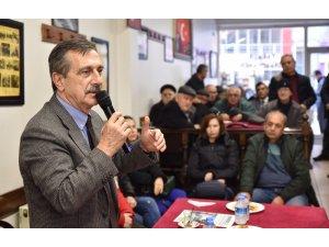Başkan Ataç, kahvehane toplantısında vatandaşlarla buluştu