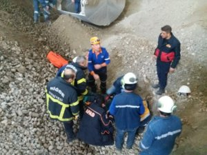 15 metre yükseklikten düşen işçi ağır yaralandı