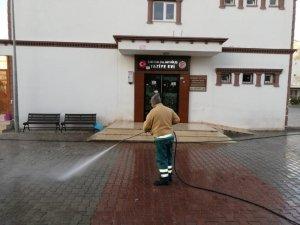 Taziye evlerinde temizlik çalışması yapıldı