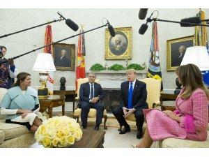 Trump, Kolombiya Devlet Başkanı Duque ile birlikte