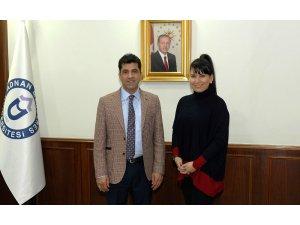 Minyatür sanatçısı Uludağ'dan Rektör Aldemir'e ziyaret
