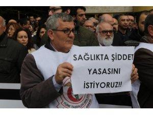 Edirne'de sağlıkçılar 'sağlıkta şiddeti' protesto etti