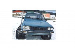 Trabzon'da 2 oto ustası 77 model Torosu paletli kar aracına dönüştürdü