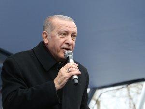 """Cumhurbaşkanı Erdoğan: """"Halkalı-Kapıkule Hızlı tren hattı projesi ile ulaşım süresi 4 saatten 1 saat 20 dakikaya inecek"""""""