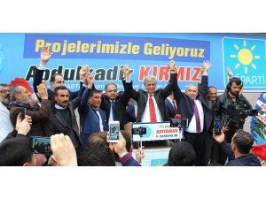 Abdulkadir Kırmızı'nın seçim irtibat bürosu açıldı