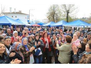 Başkan Çerçioğlu'na Çakırbeyli'de coşkulu karşılama