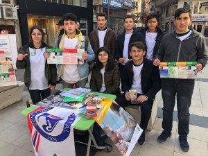 Öğrencilerden Yeşilay Haftası farkındalık etkinliği