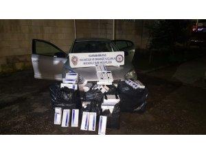 Polisten kaçan otomobilden kaçak sigara çıktı