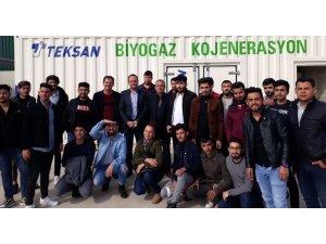 GAÜN öğrencilerinden biyogaz üretime tesisine teknik gezi
