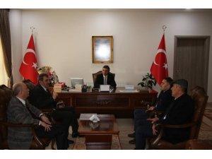 SGK İl Müdürü Nizamettin Durmuş Oltu Kaymakamı Turan'ı  ziyaret etti