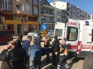 Sinop'ta motosiklet kazası: 1 yaralı