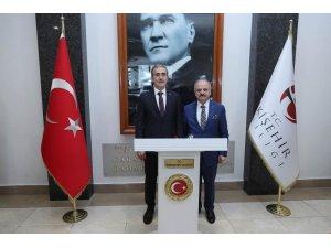 Savunma Sanayii Başkanı Demir'den Vali Çakacak'a ziyaret