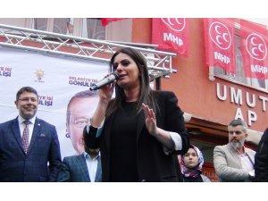 Sarıeroğlu, Çorlu'da önce seçim bürosu açılışına katıldı