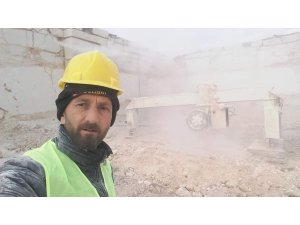 Mermer ocağındaki kazada hayatını kaybeden işçi toprağa verildi