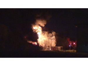 Diyarbakır'da köpük tabak fabrikasında büyük yangın