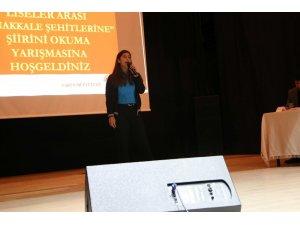 Varto'da şiir yarışması