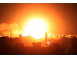 İsrail, Gazze şeridinde 100 noktaya hava saldırısında bulundu