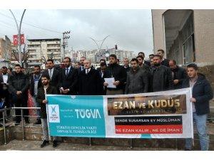 Şırnak'ta ezan ve cami saldırısı protestosu