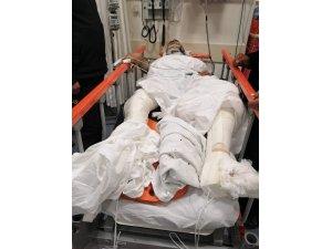 Polis memuruna çarpıp ağır yaralayarak kaçtı