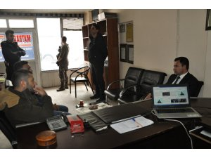 Kaymakam Uzan'dan gazetecilere ziyaret