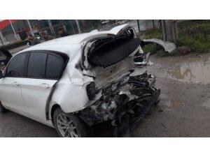 Cip otomobile arkadan çarptı: 1 yaralı