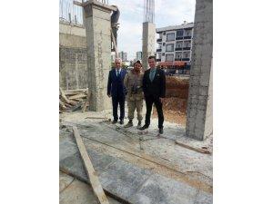 Kaymakam Gürçam, inşaatı devam eden okulları inceledi