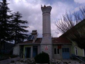 Minare ustasının hassasiyeti saniye saniye görüntülendi
